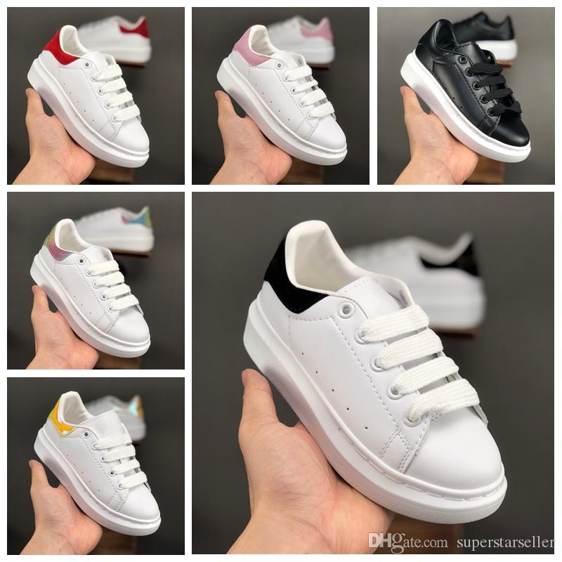 19SS Big Kids Sapatos Casuais Para Crianças Dos Miúdos Das Meninas Dos Meninos Formadores sapatilhas de grife de Moda de luxo Sapatos Da Criança Ao Ar Livre Tamanho 35