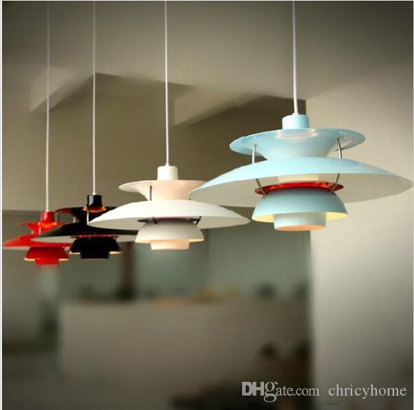 Dinamarca Louis Poulsen Ph5 Lámpara colgante de luz colgante Lámpara de araña pintada apresurada Accesorio de iluminación E27 Portalámparas