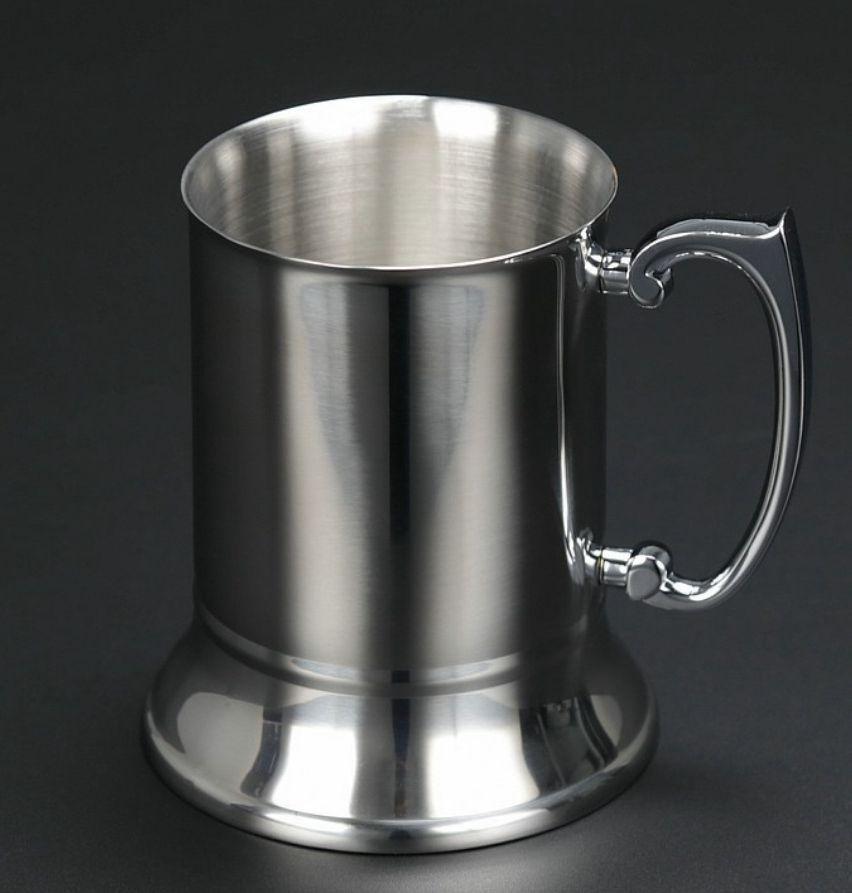 Handgrip Coffee Cup Bar Araçları Drinkware KKA7519 ile 304 Paslanmaz Çelik kupa Çift Duvar Paslanmaz Bira Mug Kokteyl kahvaltı Süt Kupalar