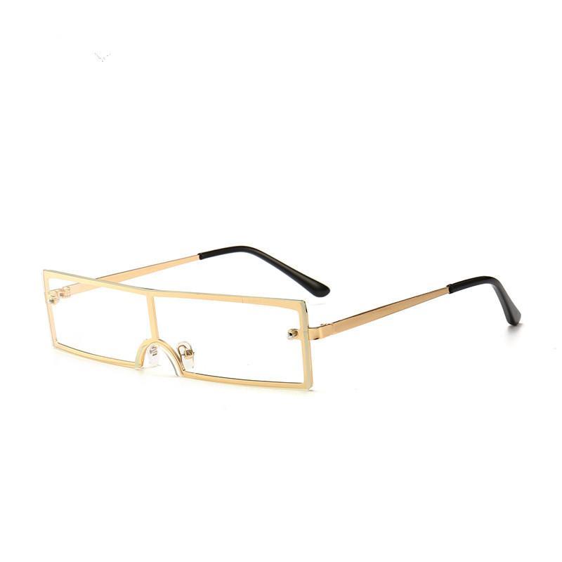 مصمم 2020 المرأة بدون إطار نظارات بدون إطار صغير مربع الشمس نظارات مكبرة مستقبلية ظلال سيدة نظارات OCCHIALI