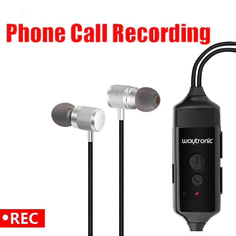 HD sans fil Bluetooth Enregistreur Appel musique écouteur pour téléphone iPhone Android mobile Appels vocaux Enregistrement
