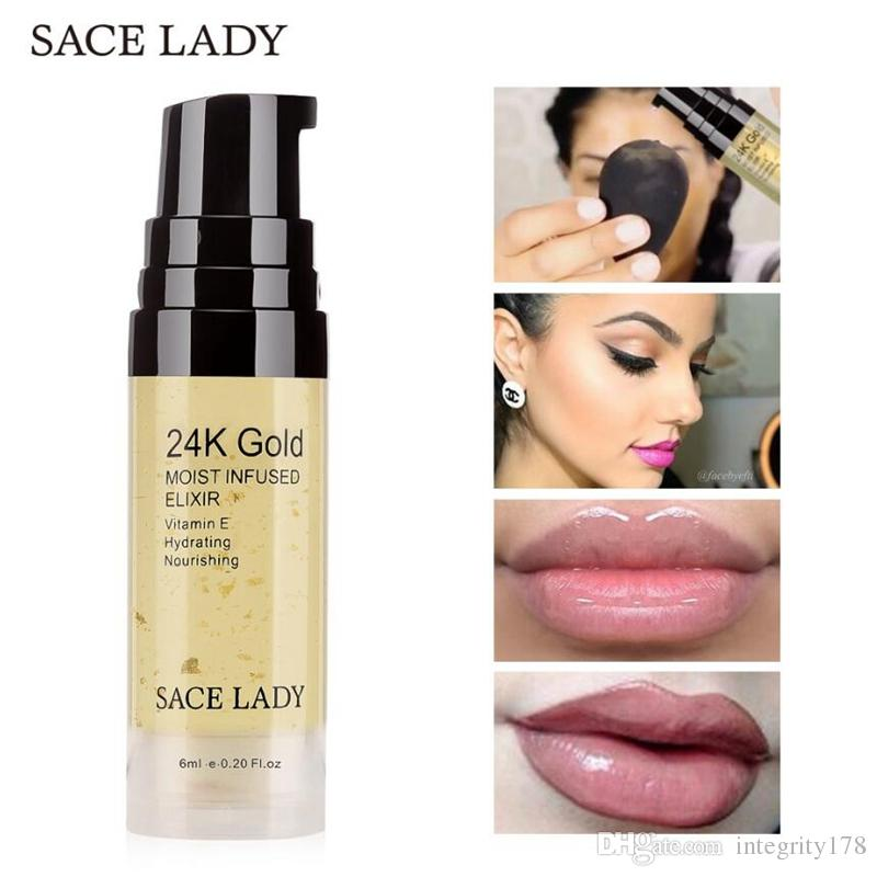 6ML / 15ML SACE LADY 24K Gold Elixir Ultra مرطب للوجه من الضروري النفط ماكياج الأساس قاعدة التمهيدي مكافحة الشيخوخة مستحضرات التجميل