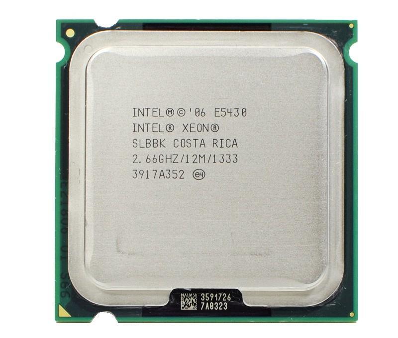 Pas cher processeurs XEON E5430 SLANU INTEL SLBBK Processeur 2,66 12M 1333Mhz CPU Works sur la carte mère LGA775