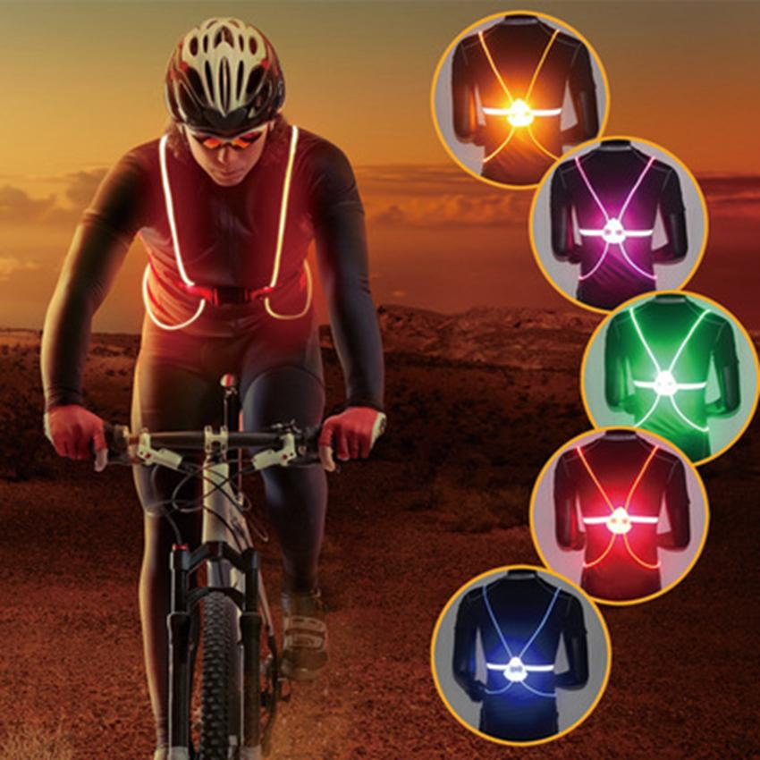 Unisex Outdoor Cycling Safety Vest Bike Ribbon Bicycle Light Reflecing Elastic