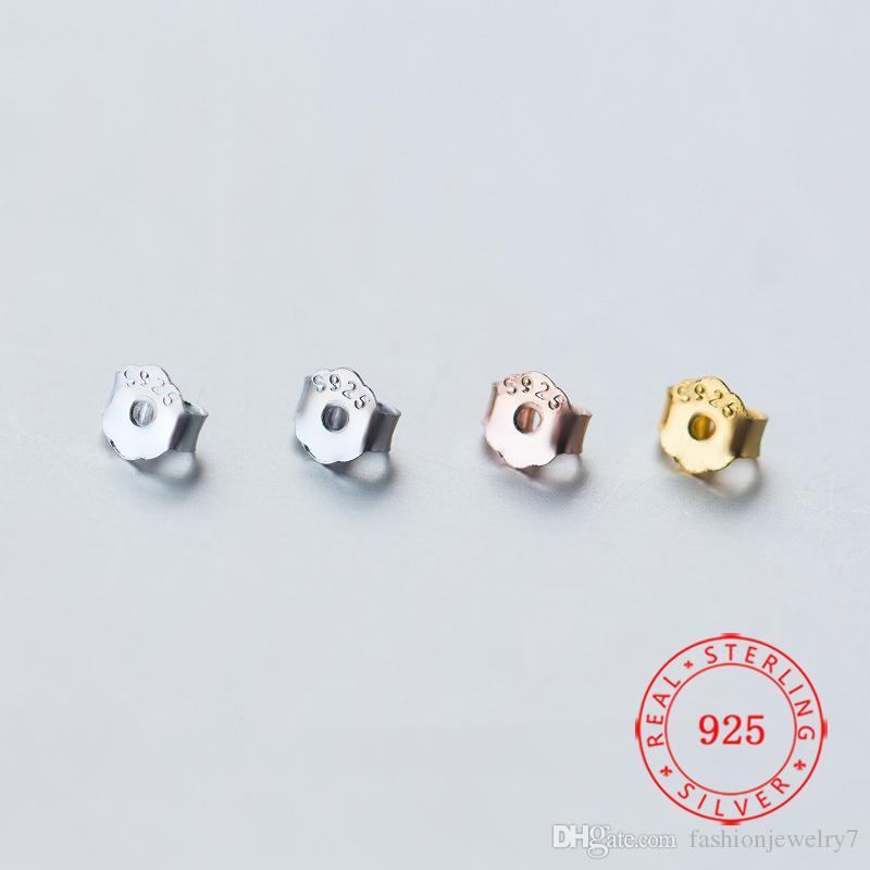 10 accoppiamenti per lotto 4,5 millimetri orecchino d'argento Jewellry Accessori posteriore dell'orecchino accessorio argento 925 per i risultati dei monili Stud