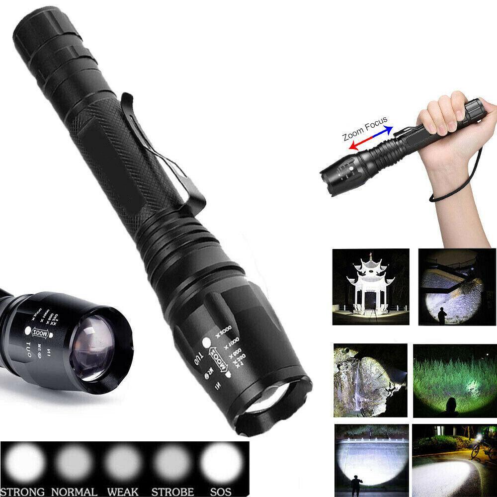 Super brillante 90000LM T6 táctico militar LED linterna antorcha con zoom 18650 envío gratis