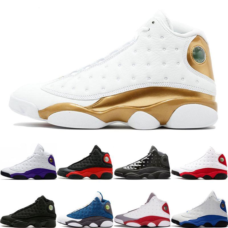 Yüksek Kalite 13 13 s basketbol ayakkabıları DMP Lakers Rakipleri kap ve cüppe Chicago Gri ayak Tasarımcı Erkek Spor Sneakers e ...
