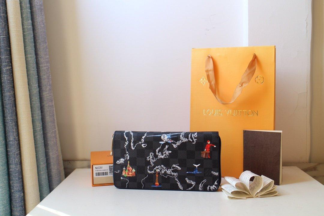 Qualità superiore con cerniera motivo stampato portafogli a lungo per le donne e gli uomini in vera pelle del PVC del passaporto titolare della carta sacchetto per le signore uomo 21/12 centimetri