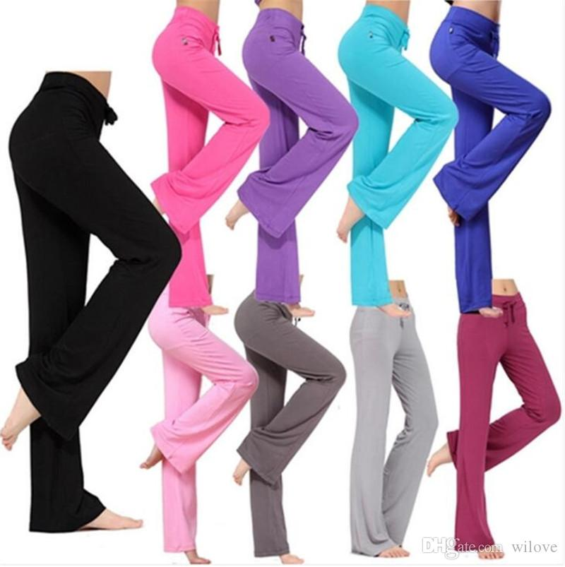 New Plus Size Skinny Sport Yoga Dance Pants Fitness Work Out Comfortable Sweat Pants For Women Harem Pants Trousers Straight Leg Casual Pant