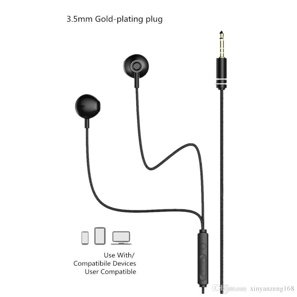 Remax Line Control Mobile Phone Headset Wired Headset New Earbuds Rm 711 Wired Cell Phone Headset Wired Headset For Cell Phone From Xinyanzeng168 3 04 Dhgate Com