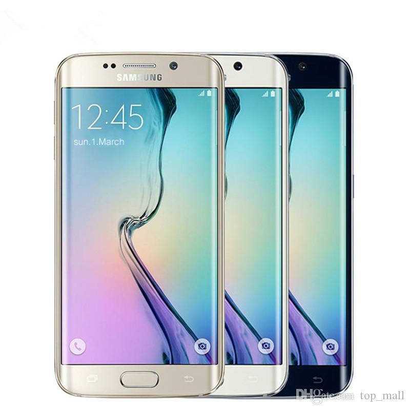 الهواتف الأصلي سامسونج غالاكسي S6 G920A G920T G920F الثماني الأساسية 5.1 بوصة 32GB ROM 3GB RAM 3G 4G LTE تجديد