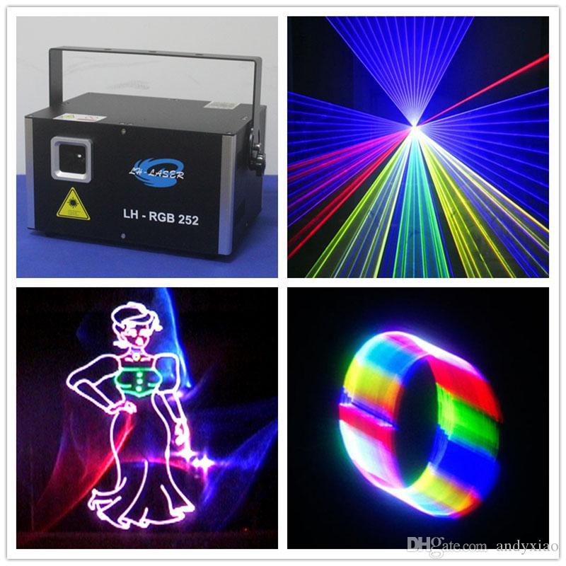 Mini 3000mW RGB Laser Lighting 3W Full Color Animation 3D Effect Light Projector