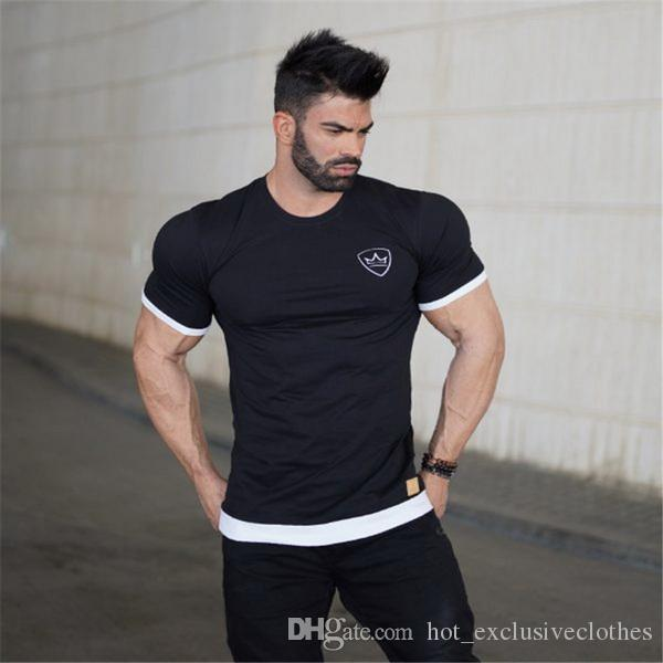 2019 New gym T-shirt New summer sports morning run fitness run speed dry T shirt fitness plastic short sleeve