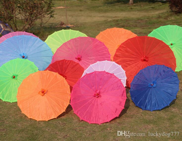 100 шт. / Лот Бесплатная доставка Маленький большой Китайский красочный Зонтик Китай традиционный танец цвет зонтик Японский шелк реквизит A232