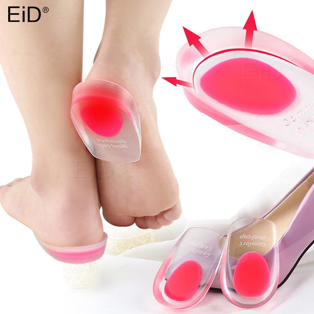 Silicone Gel ortopediche Mezza Solette inserti tallone Cushion sollievo dolore del piede supporto morbido Inserti Orthotics scarpe Pad Uomini Donne
