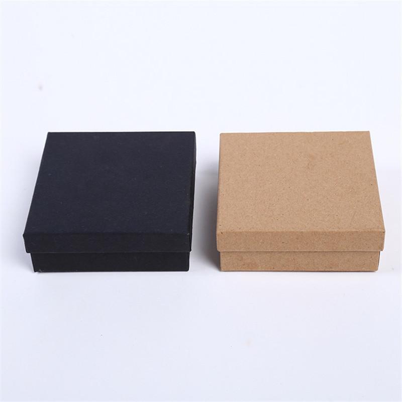 Doreenbeads Caixas De Jóias Caixa De Presente De Papel Do Vintage Marrom Caixa Caixa de Anel Preto 9 * 9 * 3 cm Multicolor Estilo Simples 1 Peça C19021601