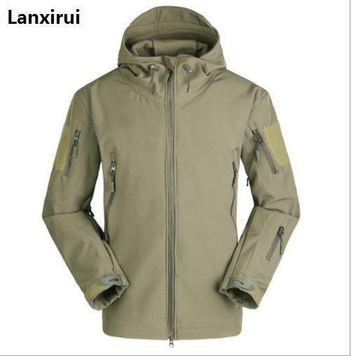 La New Soft Cap Maschio Giacche in pelle Giacca in pile Giacca a vento e pioggia fredda Camouflage Large Size Maschio