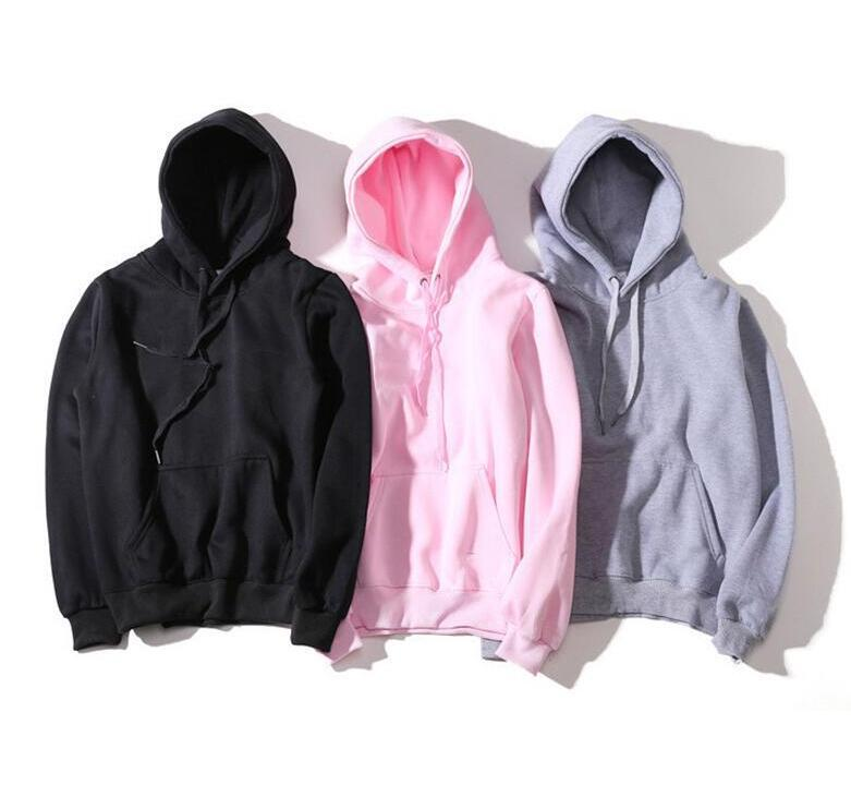 New Hoodies Men//Women Fashion Cotton Streetwear Style Mens Hoodies and Sweatshirt Pink XXL
