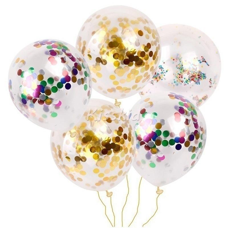100 Pcs 12 '' Or Feuille Confettis Latex Ballons Hélium De Noël À La Maison Partie De Mariage Joyeux Anniversaire Anniversaire Décor