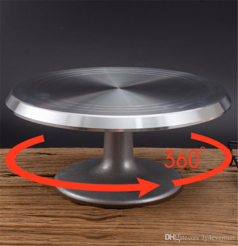 10 12 14 pouces monté table de gâteau à la crème base du support de table plateau tournant tourner autour de décoration gâteau de support de table de cuisson outil