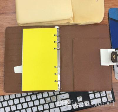 2019 Brand agenda card notebook copertina in pelle diario in pelle con sacchetto di polvere e scatola di carta notebook stile caldo