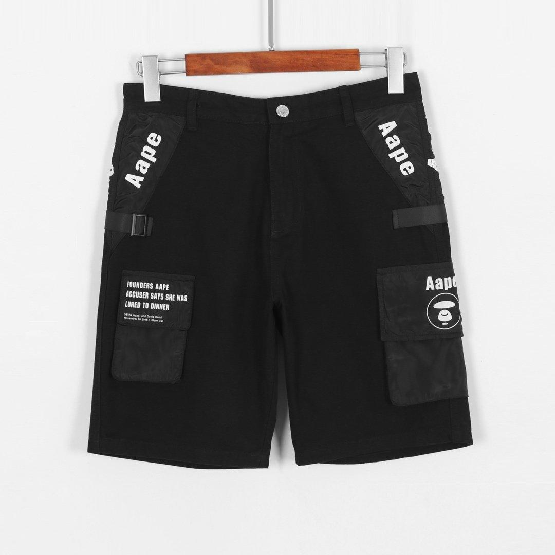 Newborn summer double-layer crime shorts fitness breathable quick-drying short gym men casual jogger knee length pants ~V2