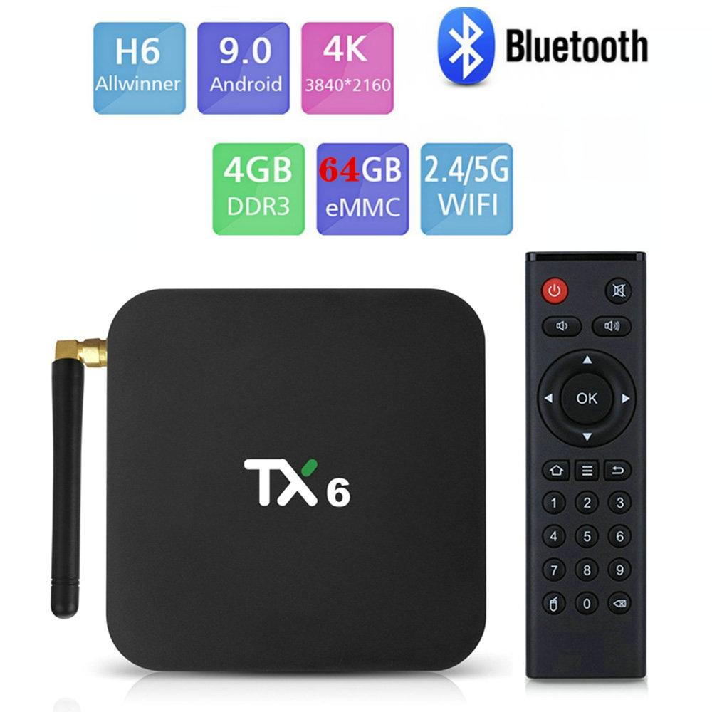 Multiple Choices Android TV Boxes 2GB/4GB 16GB/32GB S905W H6 S905X3 Dual Wifi 2.4G+5G BT Smart TV Box PK H96 Max