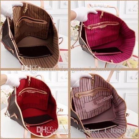 حقيبة كتف المرأة مع مخلب محفظة 40996 جلد طبيعي التسوق حمل الألوان الكاملة الداخلية 40995 سعر جيد