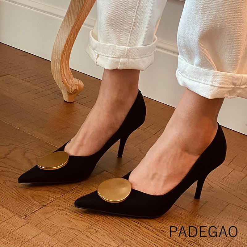 O salto alto de 2020 mulheres sapatos rasos Buckle de salto alto Salto da mulher elegante Moda