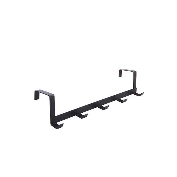 Prático gancho Porta de Ferro Sala gancho da parede Durable Kitchen 5 Hooks Bearing gancho roupa preta White Hat Brasão Gancho rack VT0935