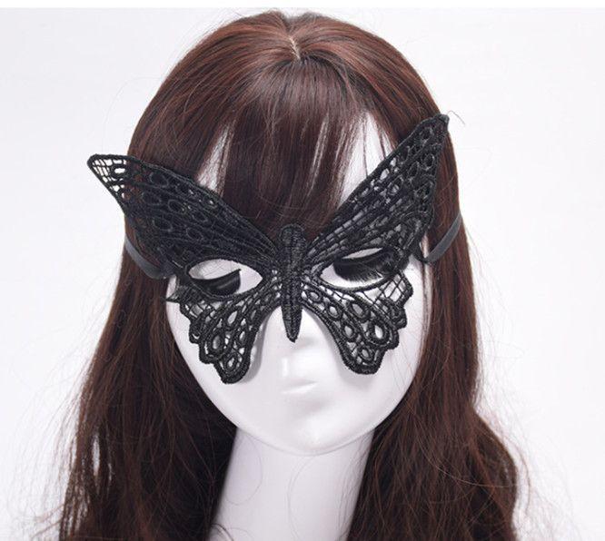 2019 Exquisite High-End Lace Mysterious Party Sexy Lace Masquerade Mask Dress Maschera di Carnevale a forma di farfalla
