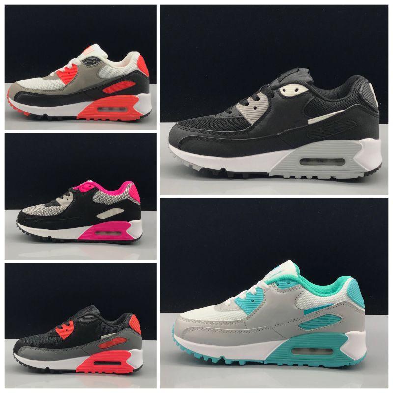 Nike air max 90 Scarpe di marca per bambini della moda di New bambino del bambino Classic Bambini Sport scarpa da tennis all'aperto a piedi scarpe Eur 28-35