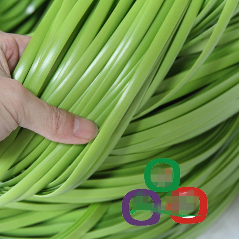500G 70M العشب الأخضر اللون التقليد الاصطناعية الروطان النسيج المواد الخام البلاستيكية PE الروطان لجدول إصلاح كرسي متماسكة و
