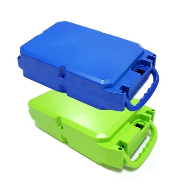 Zubehör Teile Aufbewahrungsbox E-Bike-Lithium-Kasten für 18650 Akku-Pack beinhaltet die Halterung und reine Nickel platziert werden kann