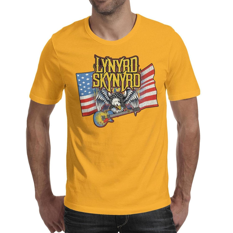 Lynyrd Skynyrd uccello libero bandiera americana t shirt da uomo nera design personalizzato fare una maglietta casuale maglietta