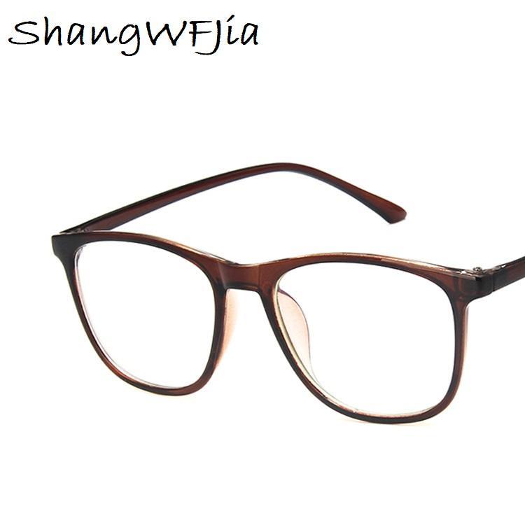 2019 Moda Kare Gözlükler çerçeve Optik Gözlük Çerçevesi Gözlük Şeffaf berrak Retro Miyop Nerd Göz Gözlük