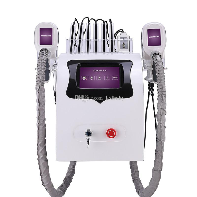 Taşınabilir cryolipolysis yağ donma zayıflama makinesi kriyoterapi Ultrason rf liposuction lipo lazer makinesi UPS DHL ücretsiz nakliye