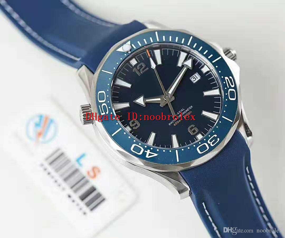 OM Fabbrica Classic Mens orologio svizzero Cal.8500 automatico 28800 VPH 316L Acciaio Zaffiro lunetta in ceramica Super luminoso Fondello trasparente