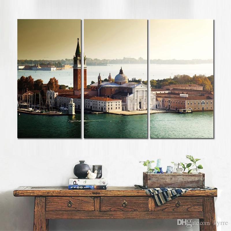 3 sets HD canvas prints church san giorgio maggiore venice unframed Painting for wall decor fine art