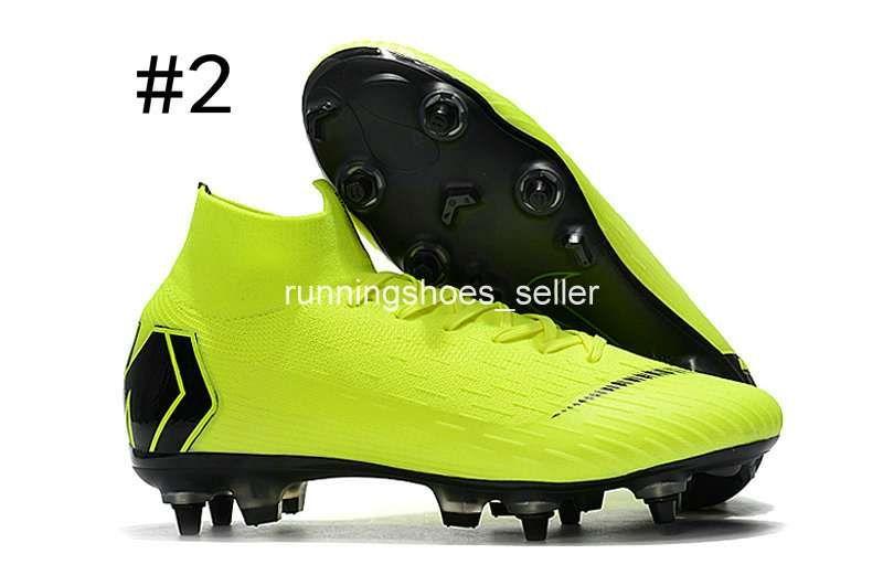 2019 Chaussures Nike Mercurial Superfly VI 360 Elite SG Fly Knit Kids Para Hombre Zapatillas De Fútbol Cr7 Chaussures Crampones De Fútbol Botas De