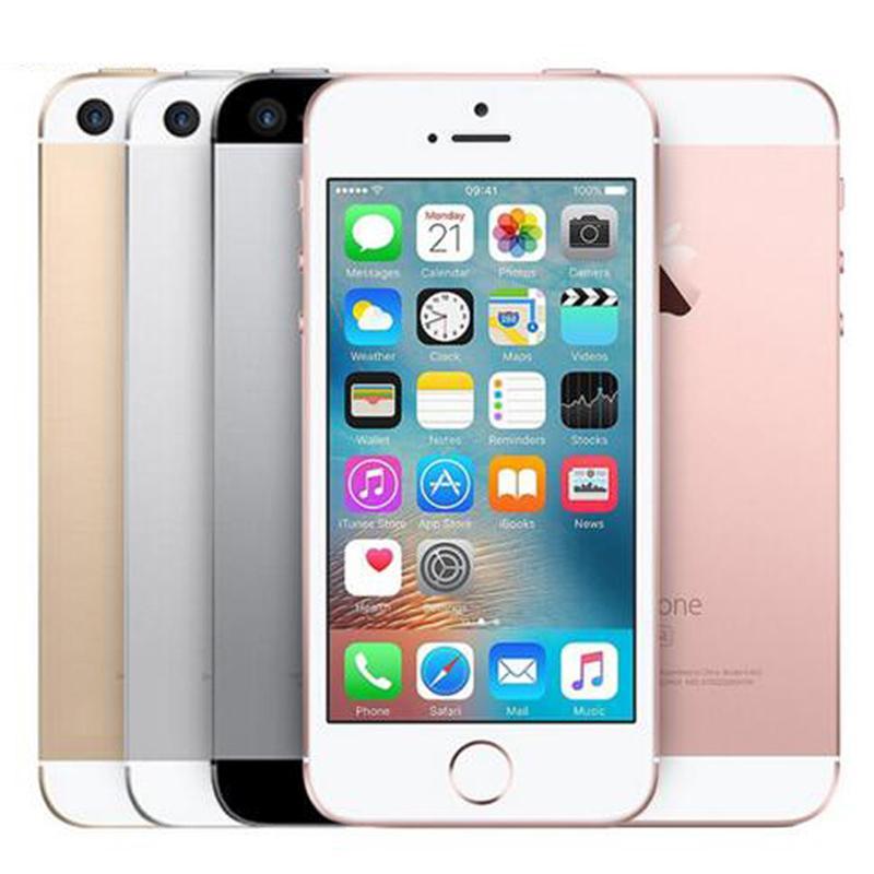 تم تجديده الأصلي التفاح iphone se 4.0 بوصة a9 ios بصمة المزدوج الأساسية 2 جيجابايت رام 16/23/22/64/128 جيجابايت rom 12mp كاميرا 4 جرام lte الهاتف الذكي مجانا dhl 5pcs
