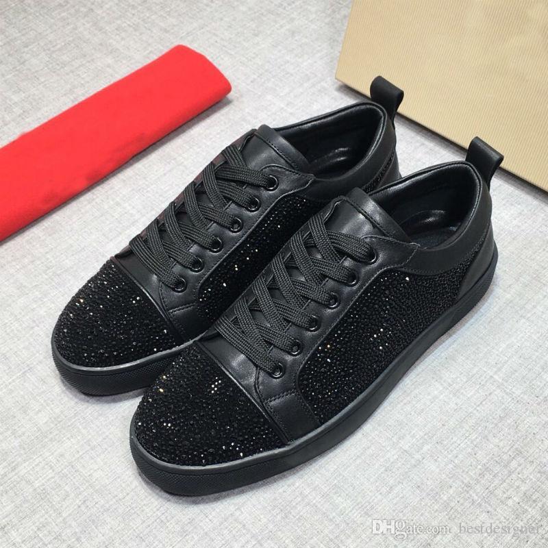 뾰족한 빨간색 하단에 높은 품질의 여성 디자이너의 남성과 여성 파티 캐주얼 신발 35-46 크기를 도와 원래 디자이너 남성 신발 낮은