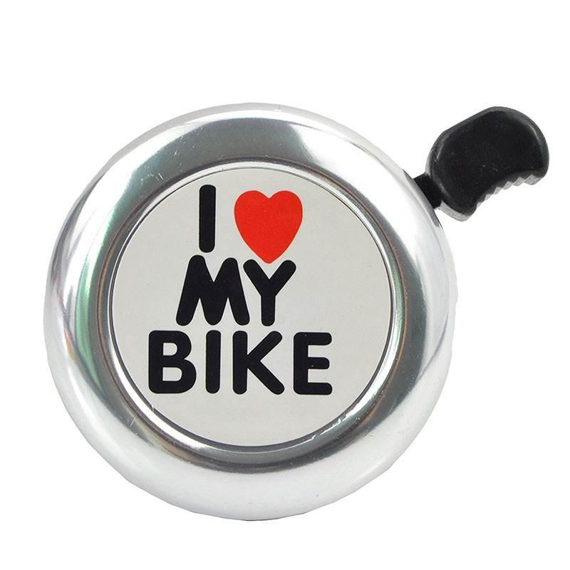 Bicicleta Bell - 'Me gusta mi bici' Bicicleta Cuerno - Loud aluminio bicicletas Anillo Mini accesorios de la bici para Adultos Hombres Mujeres Niños muchacho de las muchachas