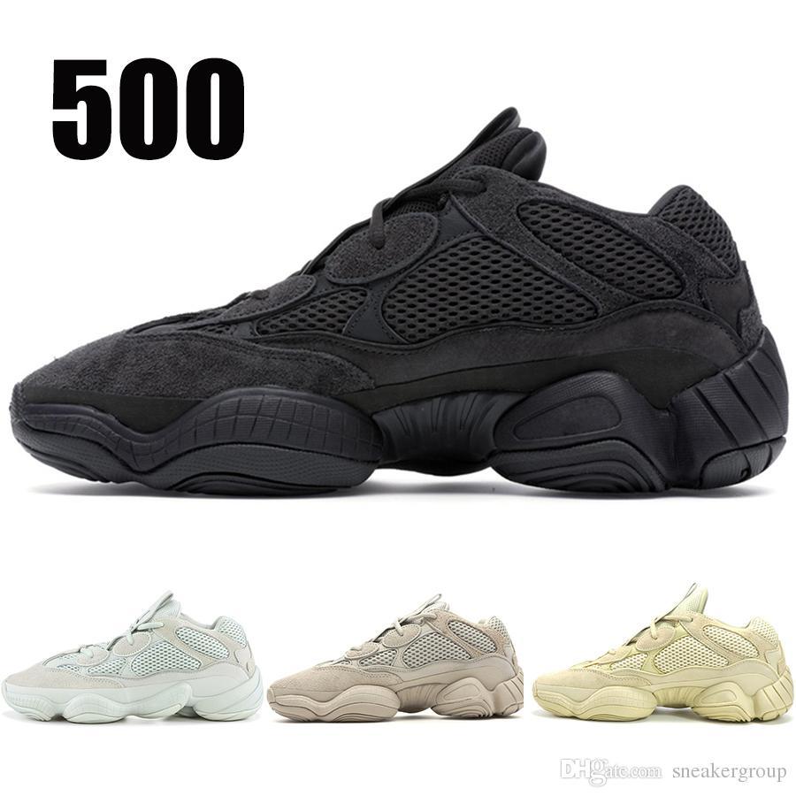 2020 Utility Black 500 кроссовок Мужчины Женщина Соль Blush Супер Луна Желтого стилист обувь Desert Rat 500 Спорт Кроссовки 36-46