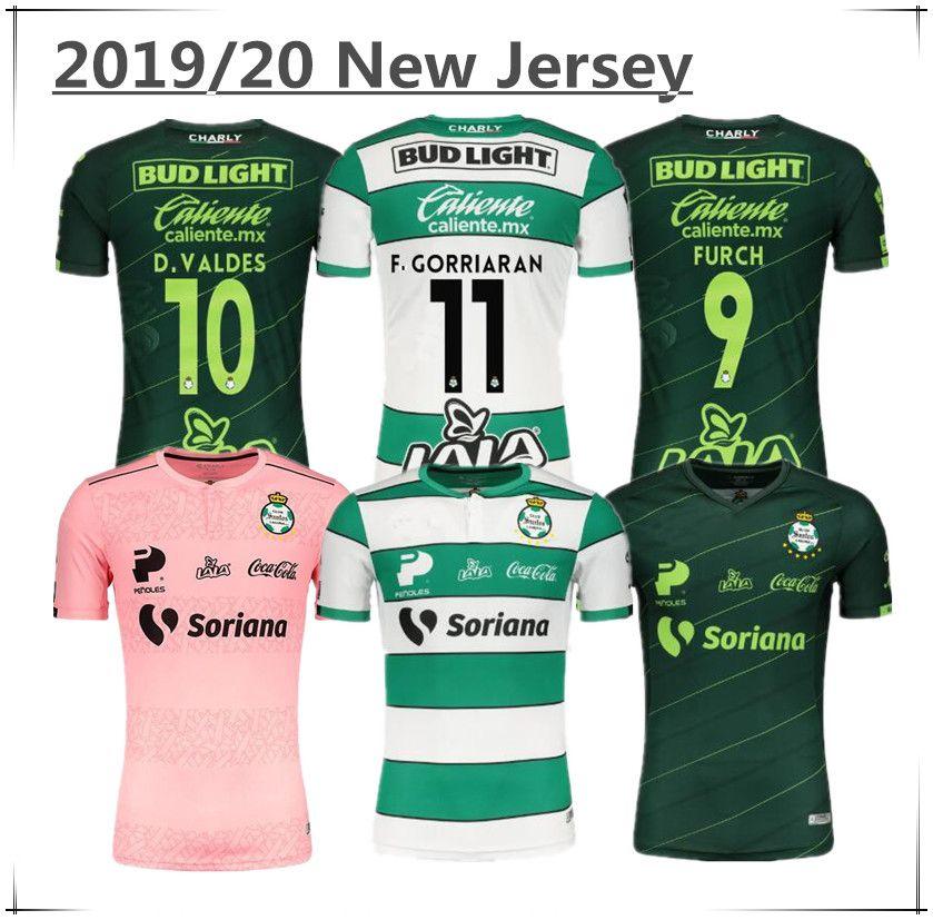 2021 Santos Laguna Home Soccer Jerseys 2019 2020 LIGA Mexico MX ...