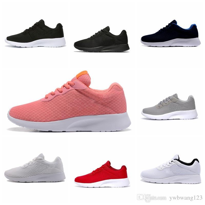 Nike Tanjun 2019 venta Caliente Casual Shoes hombres mujeres negro bajo Ligero Transpirable London Olympic Sports Casual Shoes para hombre tamaño 36-45