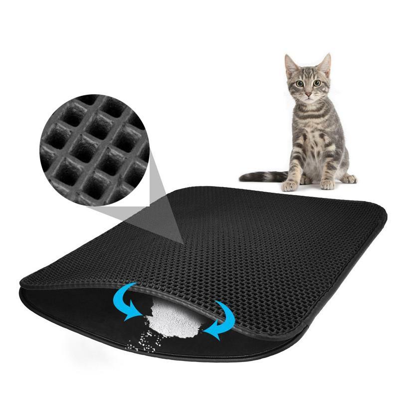 Impermeabile Pet lettiera Mat EVA doppio strato Lettiera Trapping Pet lettiera Mat Clean Pad Prodotti per i gatti Accessori