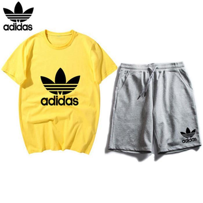 2020 Mens Designer Marca de Moda de Nova Suits Tracksuit Impresso Bordado Verão Sportswear manga curta Pullover Jogger Sportsuit 0001