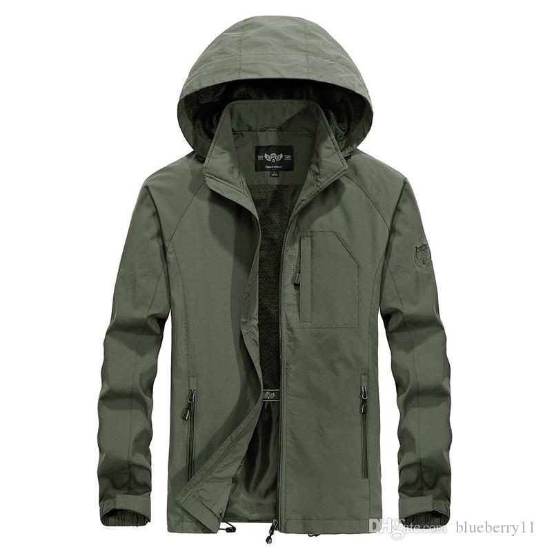 Jacket Men's Shirt Outdoor Sports Running Casual Thin Section Large Size Windbreaker Top Hooded Jacket Tide