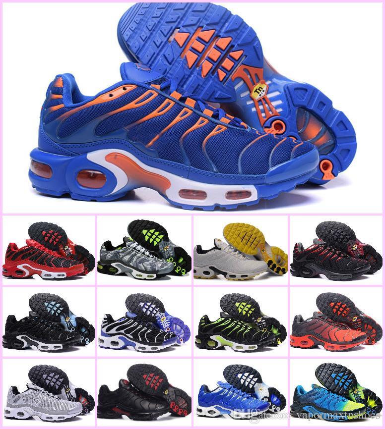الجملة 2020 أحذية TN PLUS الرجال الأصل الأزياء أحذية رياضية TN AIR مبيعات TOP الجودة رخيصة فرنسا BASKET TN ReQUIN ChauSSures حجم 40-46